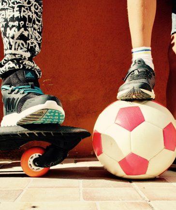 skate et ballon